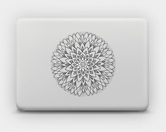 Transparent Sticker Decal for MacBook or Laptop - Mandala 12