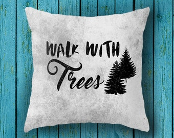 cushion cover, hiking gift, gift for him, northwest, graphic design, national park, quote, trees, cabin, hipster throw pillow case, canvas