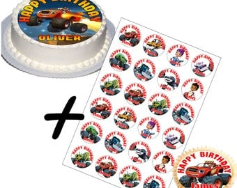 Blaze and the monster machines Cake Toppers Set v1