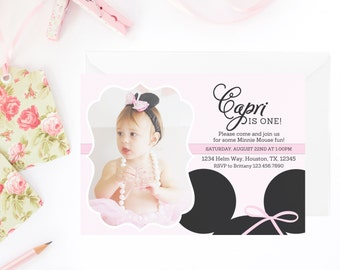 Minnie Mouse Invitation | Minnie Invitation | Minnie Mouse Invite | Pink Minnie Mouse Invitation | Minnie Mouse Party