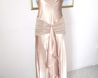 Prom Dress - evening dress - Stunning  gold new Faviana Couture Prom dress - Evening gown - Size M  8-10