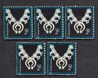 Navajo Jewelry  - Five Unused Two Cent Postage Stamps