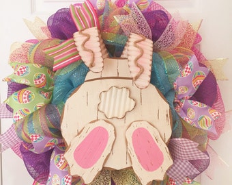 Easter wreath, Spring wreath, Bunny wreath, Easter bunny wreath, Easter decor, Rabbit wreath, Easter bunny,