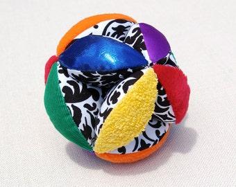 Rainbow Sensory Grab Ball - Montessori Inspired Baby and Toddler Toy