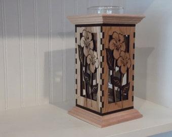 Engraved Wood Vase
