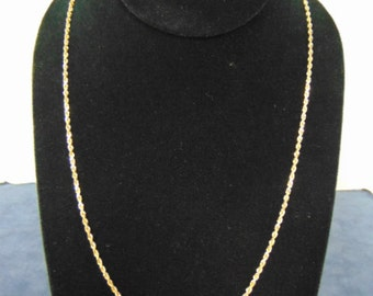 Vintage Estate 14k Yellow Gold Rope Necklace 9.0g #E2204