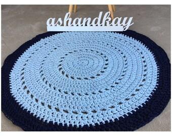 Handmade Crochet Floor Rug - Circle