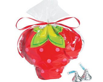 Sweet Strawberry Shortcake favor bags  /Strawberry Shortcake Party / cello bags / treat bags