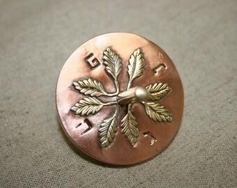 Hanukkah Sevivon, Brass and Copper Dreiderl, Jewish  Chanukah Gift,  Handcrafted dreidel, Israeli art, Made in Israel,