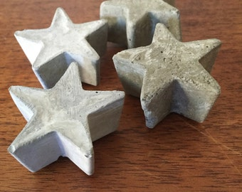 Set of 4 Star Concrete Magnets
