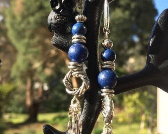 Blue Lapis Beads Earrings