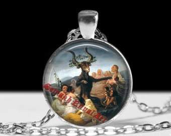 Witches Sabbath necklace, Magic spell jewelry, Gothic pendant, Witchcraft amulet #230