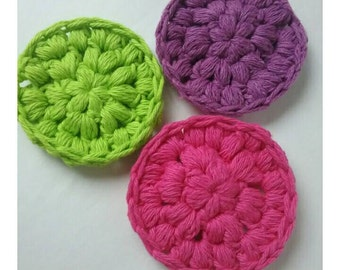 Cotton Face Scrubbies, Face Scrubbies, Cotton Makeup Removers, Crochet Face Scrubbies, Face Scrubby, Cleansing Pads, Cotton Pads