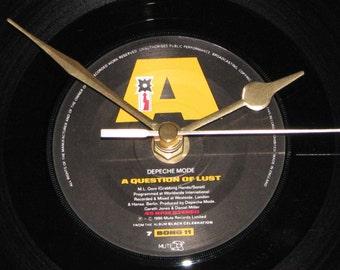 "Depeche Mode A question of lust  7"" vinyl record clock"