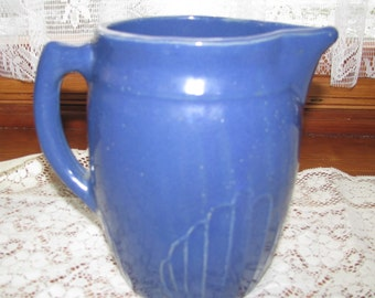 Sale - Vintage Monmouth Pottery Blue stoneware Pitcher,