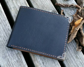 leather wallet two-oned / mens wallet / womens wallet