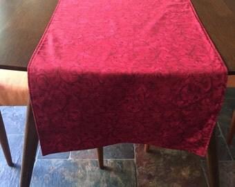 Christmas Table Runner, Table Runner, Red Table Runner