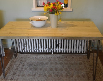 Industrial Kitchen Table Mid Century Style hairpin