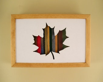 Maple Leaf Recycled Wood Silhouette Wall Art