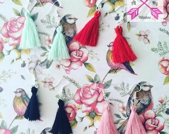 Tassel earrings, Red Tassel earrings, Tassel earrings, Tassel jewellery,