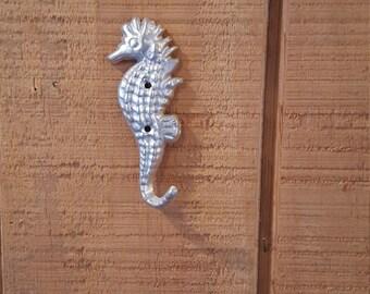 Seahorse Cast Iron Seahorse Hook / Nautical Hook / Nautical Nursery / Island Decor / Beach Decor / Seahorse Decor / Beach house Decor / Hook