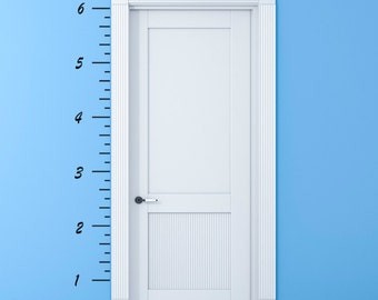 Wall Decals Stickers Height Chart Kit - Wall Large Wall Art Vinyl Decals Vinyl Stickers. Easy Peel Decals