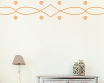 Wall Decals Stickers Twist Border- 3 to 19 inches high  Wall Large Wall Art Wall decor wall borders