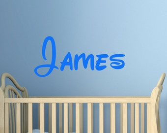 Custom Wall vinyl decal sticker  childs name any colour multiple sizes 7 year wall vinyl custom name custom design