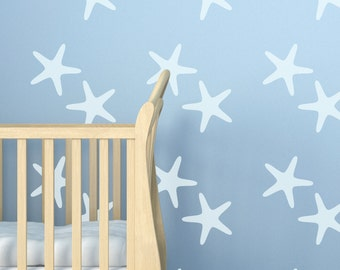 Starfish Wall Stencil, Wall Art Stencil  in reusable Mylar, wall art, small to large stencils up to 19.5 x 27.5 inches.