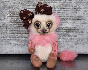 Lila (ooak author teddy bear, artist teddy bear, artist bear)