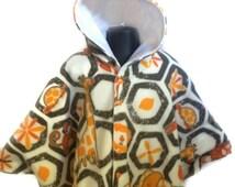 Baby Shower Gift - Infant Car Seat Poncho - Baby Car Seat Poncho - Toddler Car Seat Poncho - Fleece Baby Poncho - Gender Neutral Poncho