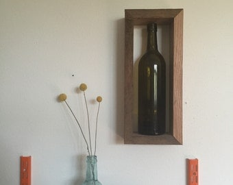 Reclaimed Wine Bottle Shelf FREE SHIPPING