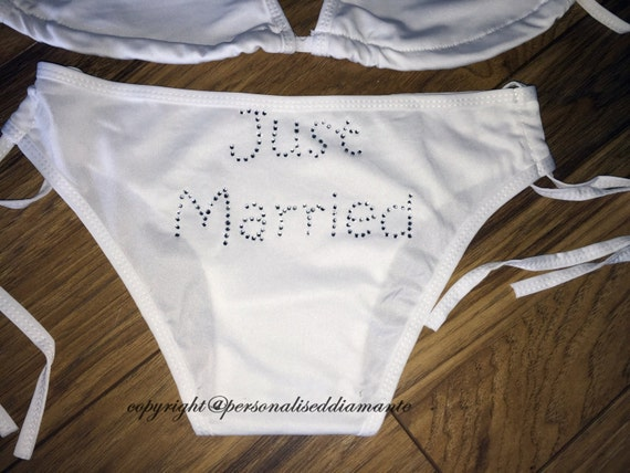 Just married bikini bottoms
