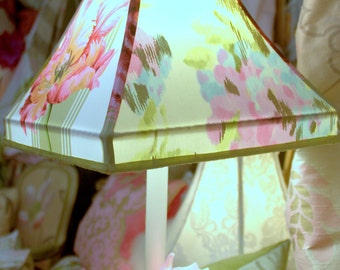 Custom Made Lamp Shade, Four Panel,Designers Guild Printed Cotton,From Jane Hall Design