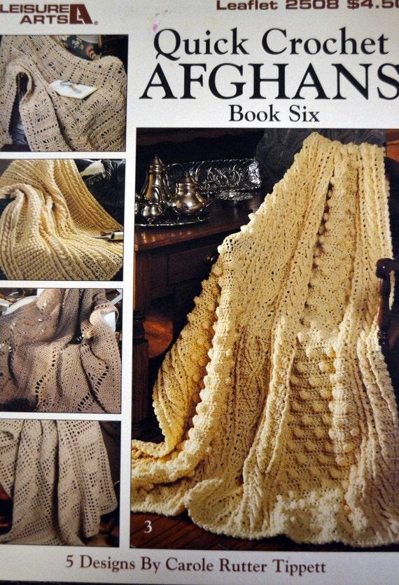 Quick Crochet Afghans Patterns Leisure Arts Leaflet 2508