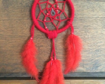 Red Feather Silver Star Dreamcatcher