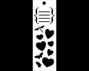 "Dear Diary Bookmark Art Stencil - 6"" X 2"" - STCL901 by StudioR12"