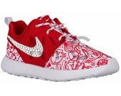 Blinged Nike Roshe Run Shoes Valentines Day Edition  Customized With Swarovski Crystal Rhinestones Authentic New in Box