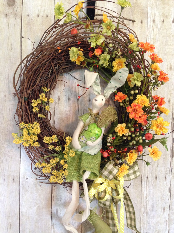 Front Door Wreath Easter Door Wreath Easter Wreath Spring