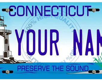 Personalized Custom Connecticut Car Vehicle License Plate Auto Tag