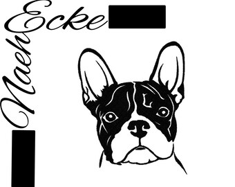 Embroidery French Bulldog