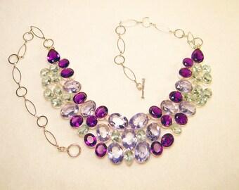 Gorgeous Multi Gemstone Silver Necklace