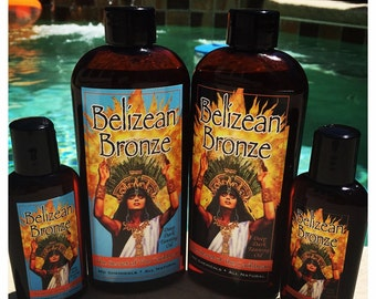 "Belizean Bronze All Natural Tanning Oil ""Island Papaya"""
