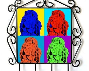 Bloodhound- clothes hanger with an image of a dog. Collection. Andy Warhol Style
