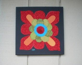 Flower #3 Fabric Wall Art