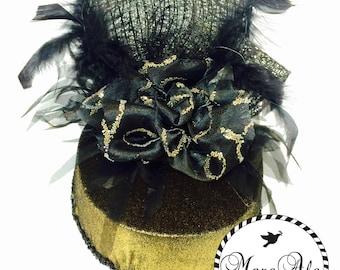 Velvet Gold and Black Party Hat