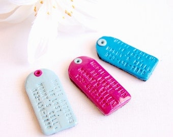 Safety Emergency Contact Tag - Child Emergency Phone Number Identification - Kid Safety - Child Safety Tag - Medical ID Tag - Luggage ID Tag