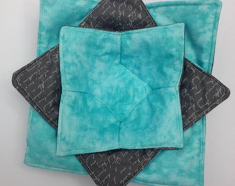 Microwave Bowl Potholders - Customized and Reversible