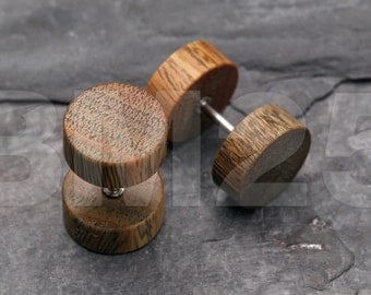 A Pair of Vera Wood Fake Plug