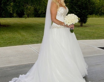 Gorgeous Cathedral Veil / Chapel Veils with Choice of 2 lace patterns